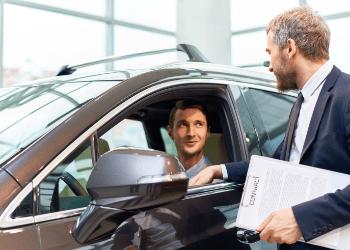 2 guys testing car